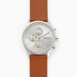 SKAGEN STAINLESS STEEL CHRONOGRAPH LEATHER