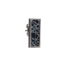 SÄGEN VIRRVARR RECTANGLE SMALL DARK EARRING
