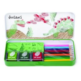 FINGER PRINT ART SET DINOSAUR