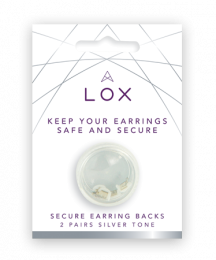 LOX SECURE EARRING BACKS SILVER