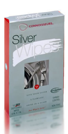 CONNOISSEURS SILVER WIPES