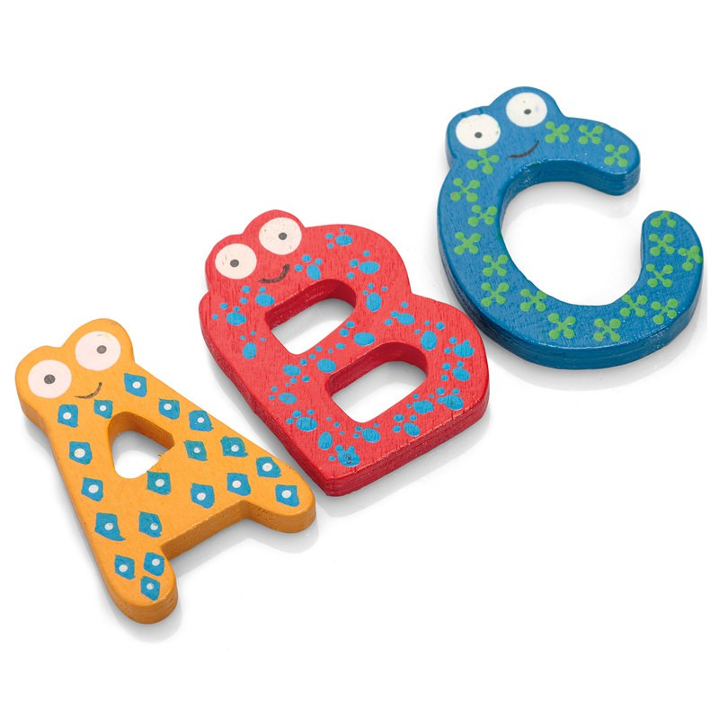 WOODEN MAGNETIC LETTERS