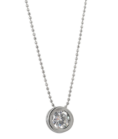 TINDRA LONG NECKLACE STEEL