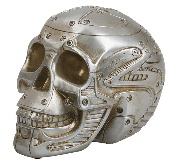 SPARBÖSSA SILVER SKULL MONEY BANK