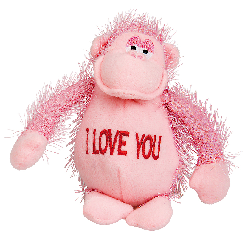 "PLUSH MONKEY ""I LOVE YOU"""