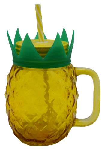 PINEAPPLE MASON JAR YELLOW