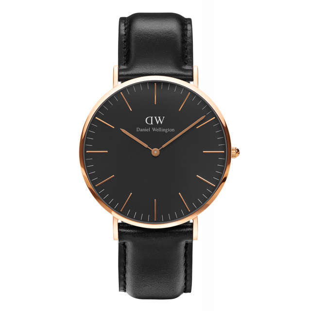 DW CLASSIC BLACK SHEFFIELD ROSÉ 40MM