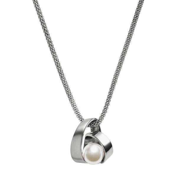 SKAGEN NECKLACE STAINLESS STEEL PEARL