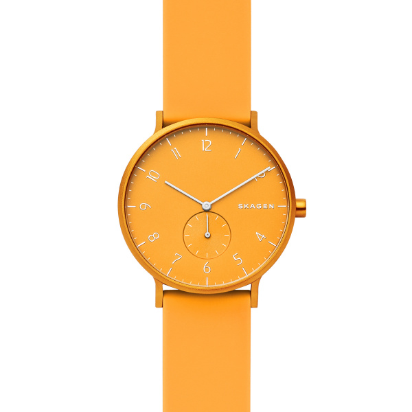 SKAGEN ALUMINUM YELLOW SILCONE