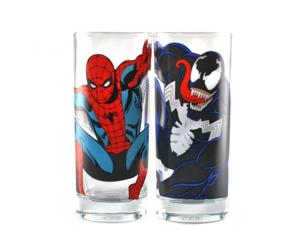 GLAS SET SPIDER-MAN