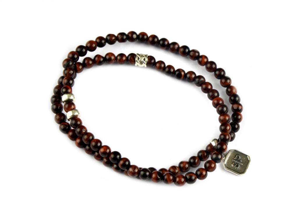 CHRIS DOUBLE BRACELET RED TIGER EYE