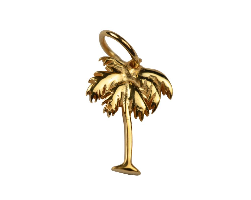 DANGLING PENDANT GOLD PALM