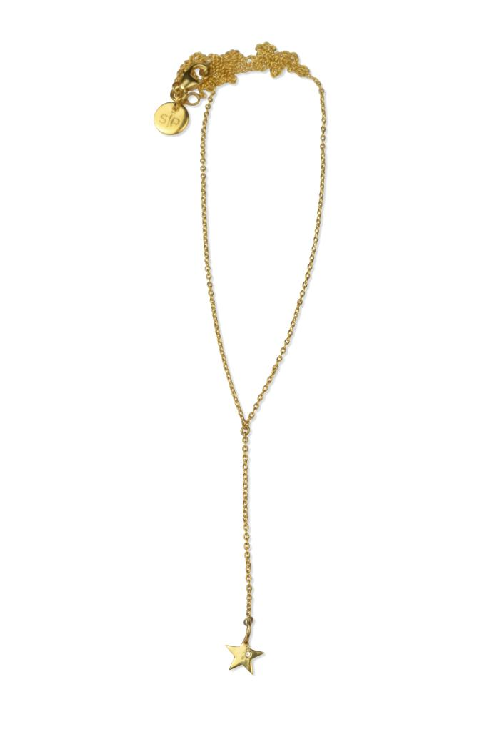 DANGLING NECKLACE GOLD STAR