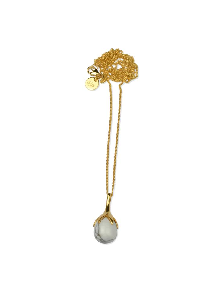 DRIPPING NECKLACE GOLD HOWLITE