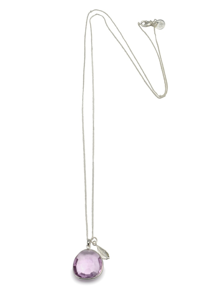 GLAM GLAM NECKLACE SILVER PINK AMETHYST