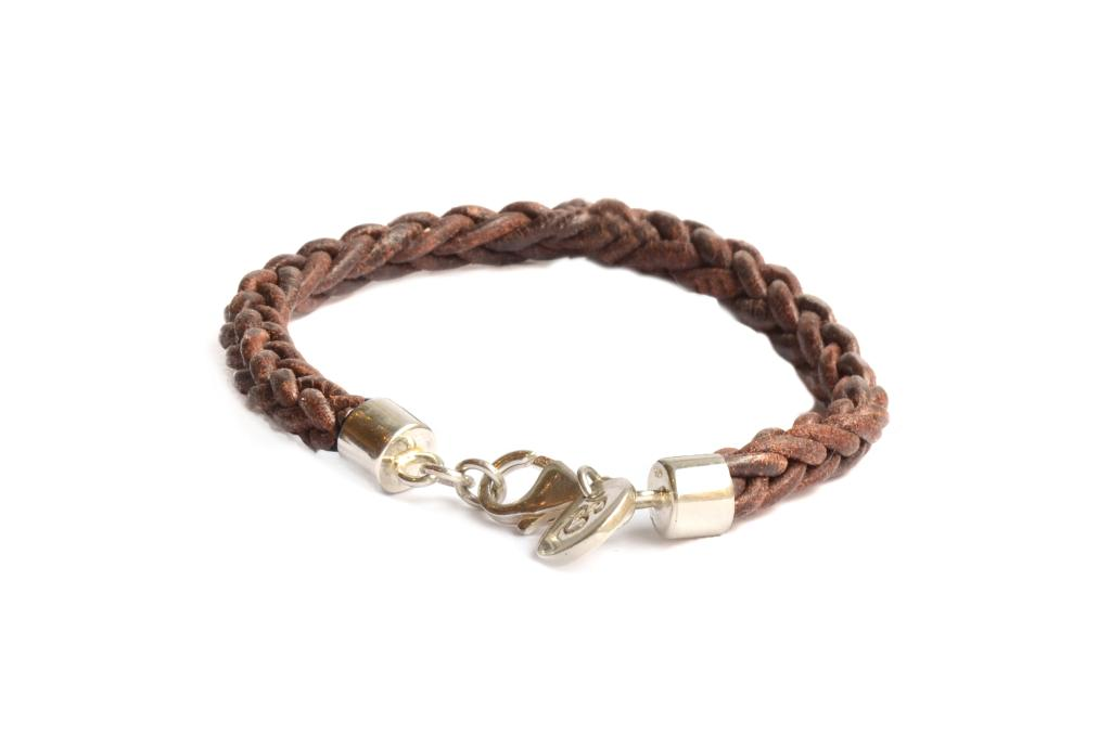 HEALING LEATHER BRACELET BROWN