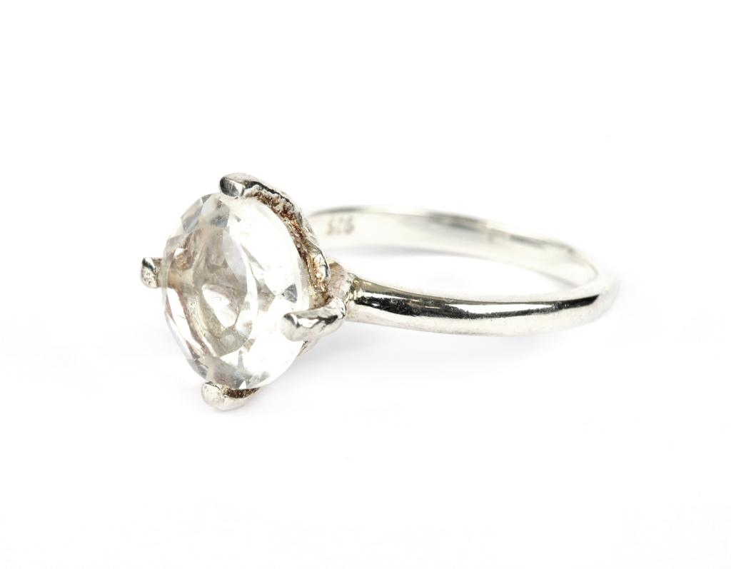 HERA RING SILVER CRYSTAL S