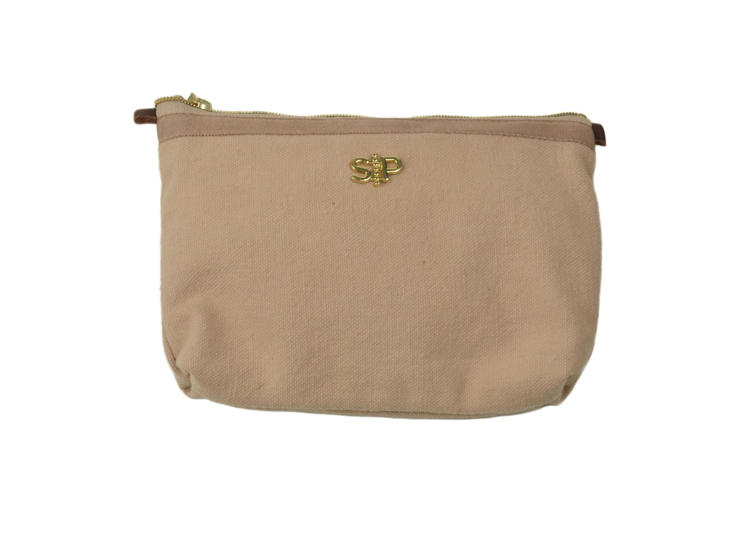 SMALL TOILETRY BAG, DUSTY PINK