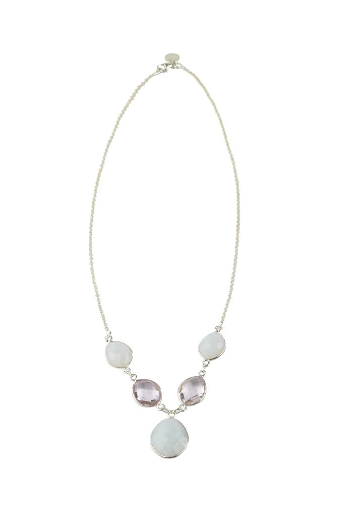 NUGGET PARTY NECKLACE WHITE OPAL