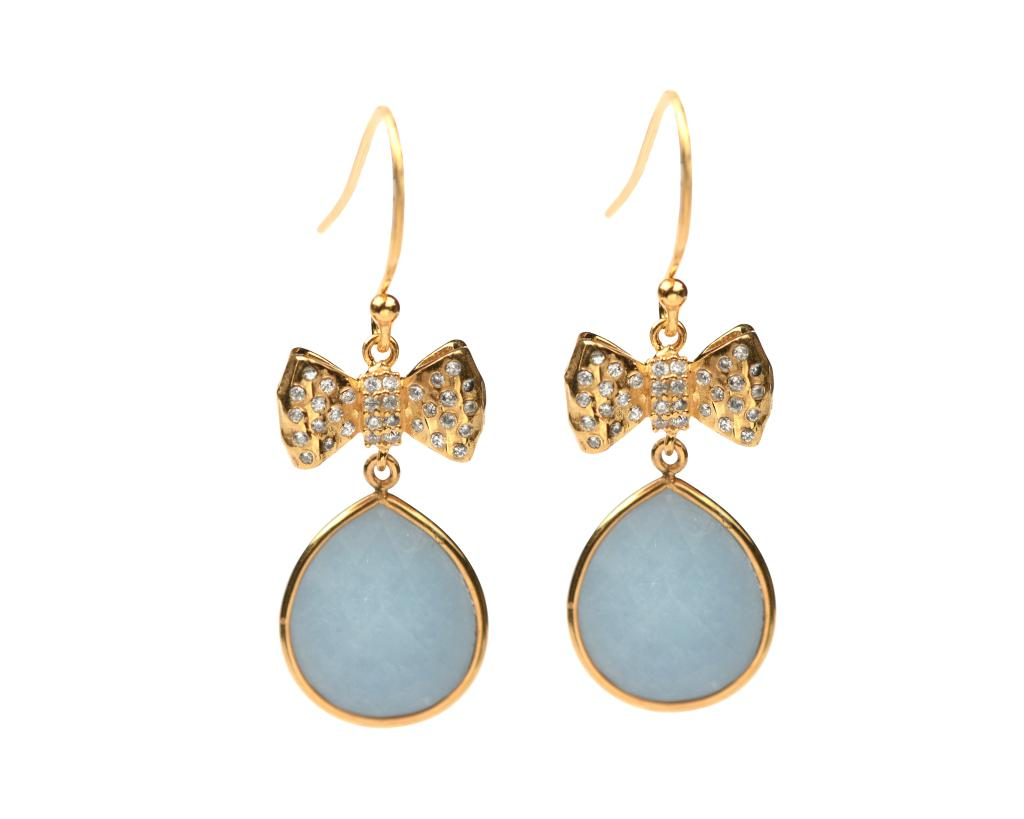OH SO PRETTY EARRINGS GOLD ANGELITE