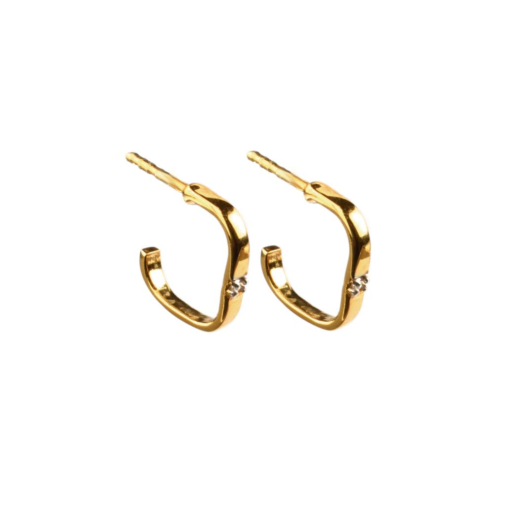 SINGLE DIAMOND EARRINGS GOLD
