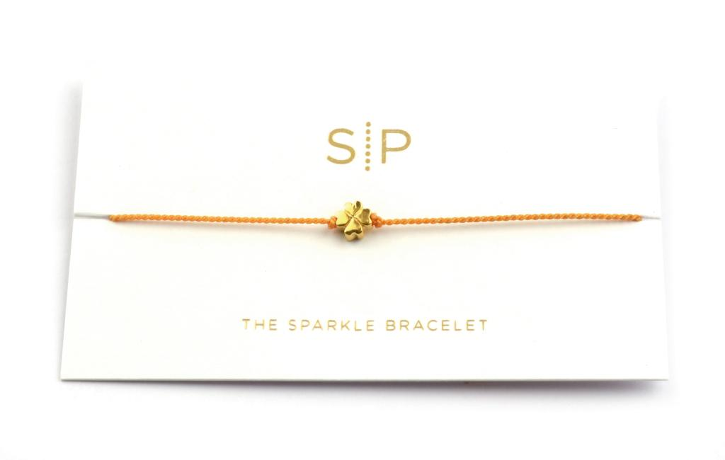 SPARKLE BRACELET CLOVER ORANGE