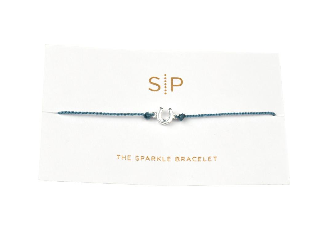 SPARKLE BRACELET HORSE SHOE MEDIUM BLUE