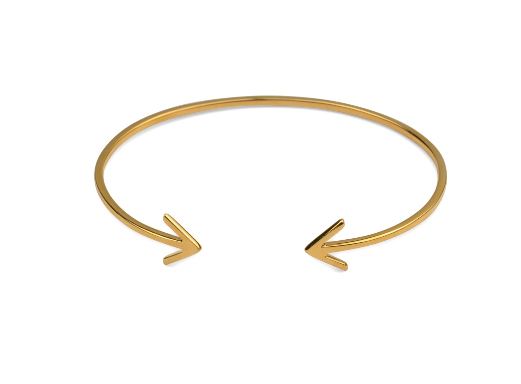 STRICT PLAIN BANGLE ARROW GOLD