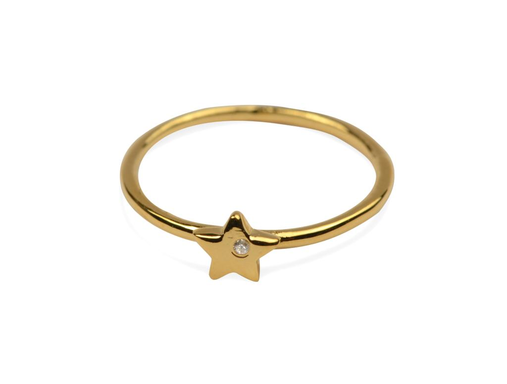TINY STAR RING GOLD