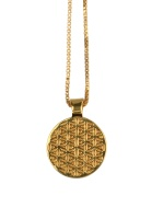 KARMA NECKLACE FLOWER OF LIFE GOLD
