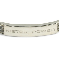 SISTER POWER BRACELET SILVER GREY