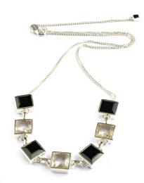 BLEECKER NECKLACE BLACK ONYX