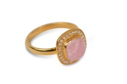 CLASSY RING GOLD PINK OPAL