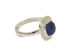 CLASSY RING SILVER LAPIS
