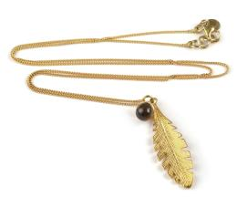 FEATHER NECKLACE SMOKEY