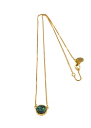 FRANCES DRUZY NECKLACE GOLD GREEN
