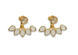 MISS DIVA DROP LINE EARRING GOLD CRYSTAL