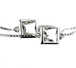 PRECIOUS LONG NECKLACE SILVER CRYSTAL