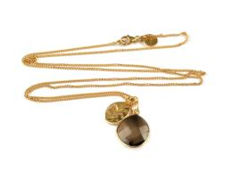 SINGLE NUGGET NECKLACE GOLD SMOKEY