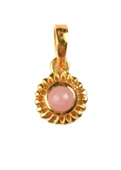 ADORABLE FLOWER GOLD PINK OPAL