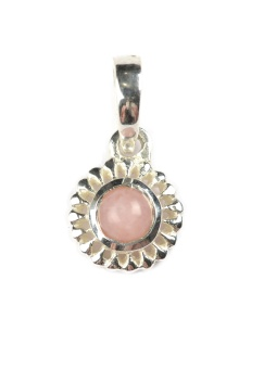 ADORABLE FLOWER SILVER PINK OPAL