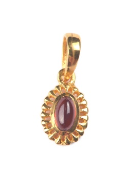 ADORABLE OVAL GOLD, GARNET