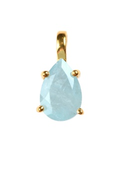 ADORABLE PEAR CUT AQUAMARINE