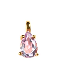ADORABLE PEAR CUT PINK AMETHYST