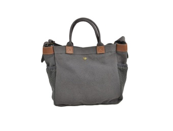 ASHLEY TOTE BAG, DARK GREY