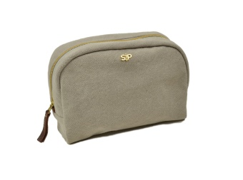 BIG TOILETRY BAG, LIGHT GREY