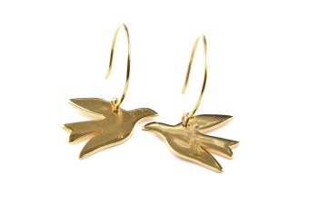 BIRDY EARRINGS GOLD