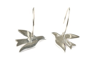 BIRDY EARRINGS SILVER