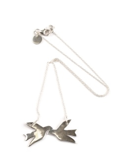 BIRDY NECKLACE SILVER