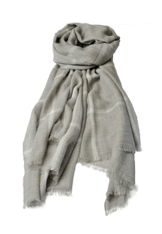 CHECKY SCARF GREY